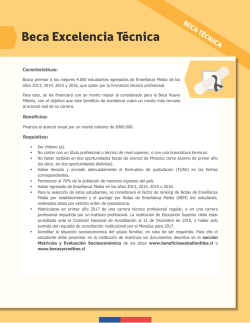 Beneficios: Requisitos: Características: