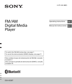 FM/AM Digital Media Player