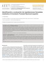 Identificación y evaluación de repoblaciones forestales mediante el
