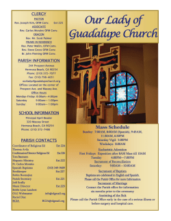 2nd Sunday after Epiphany - Our Lady of Guadalupe Church