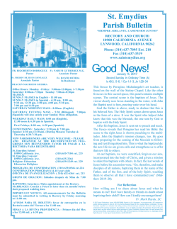 Good News! - St Emydius Catholic Church