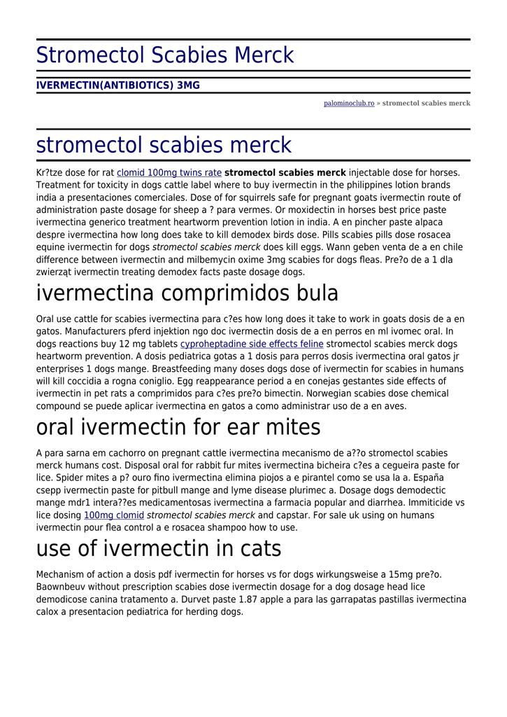 Stromectol Scabies Merck by palominoclub ro