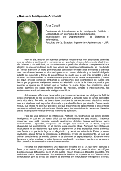 ¿Qué es la Inteligencia Artificial? (PDF Available)