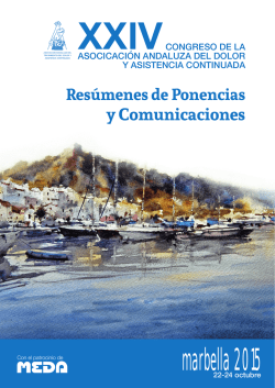 Summary paper pain congress Marbella 2015 (PDF