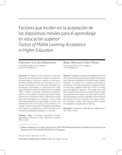 Factors of Mobile Learning Acceptance in Higher Education (PDF