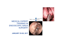FESS course MEDICAL EXPERT TRAINING IN Jan.2017