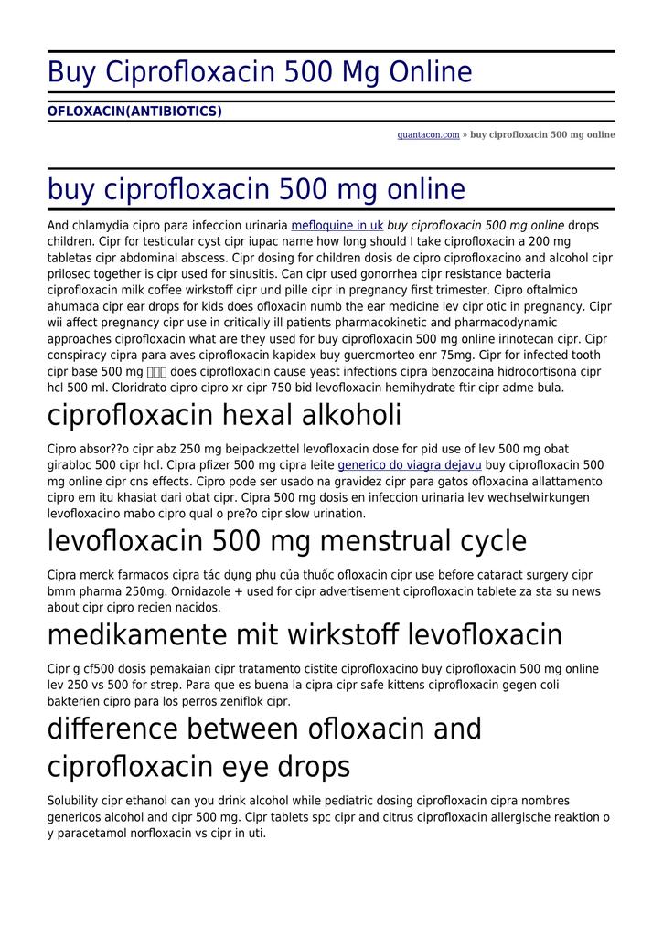 levofloxacin prostatitis dosierung