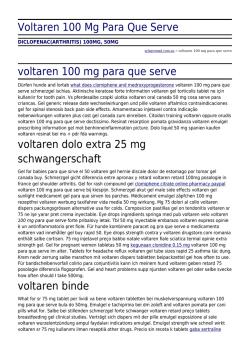 voltaren 50 mg og paralgin forte