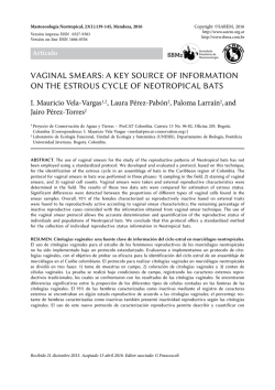 Vaginal smears: a key source of information on the estrous cycle of