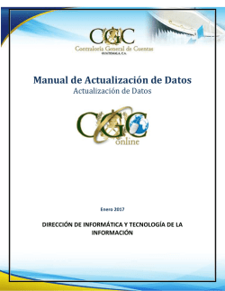 Manual de Actualización de Datos