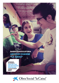 "art for change - Obra Social ""la Caixa"""