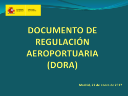 Documento de Regulación Aeroportuaria (DORA)