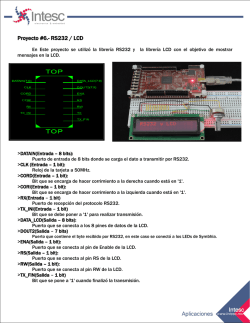 Proyecto #6.- RS232 / LCD