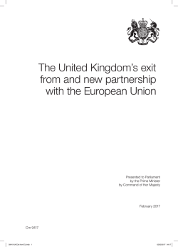 The United Kingdom`s exit from and new partnership - Astrid