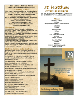 Bulletin - Saint Matthew Catholic Church
