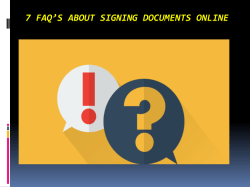 7 FAQs About Signing Documents Online