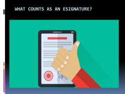 What Counts As An Esignature