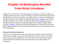 Chapter 13 Bankruptcy Benefits From Brian Linnekens