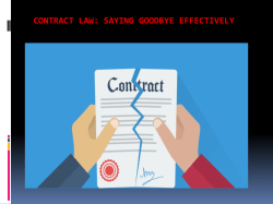 Contract Law - Saying Goodbye Effectively
