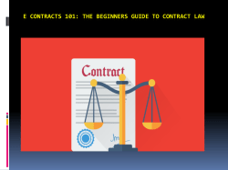 E contracts 101 - The Beginners Guide to Contract Law