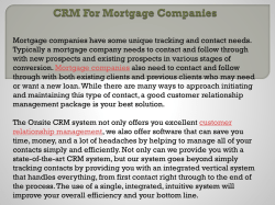 CRM For Mortgage Companies