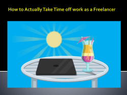 How to Actually Take Time off work as a Freelancer