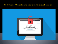 The Difference Between Digital Signatures and Electronic Signatures