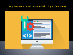 Why Freelance Developers Are Switching To Econtracts