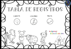 tabla de registros - Imagenes Educativas