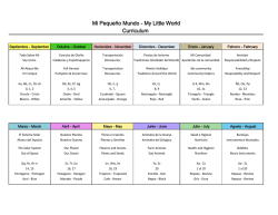 Mi Pequeño Mundo - My Little World Curriculum