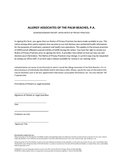 ALLERGY ASSOCIATES OF THE PALM BEACHES, P.A.