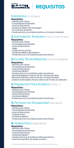 Requisitos - Acuática Samil