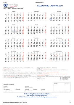 Imprime tu Calendario Laboral obligatorio para