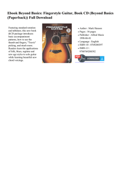 Ebook Beyond Basics: Fingerstyle Guitar, Book
