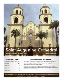 February 19, 2017 - St. Augustine Cathedral