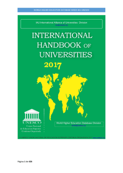 World Higher Education Database WHED IAU UNESCO