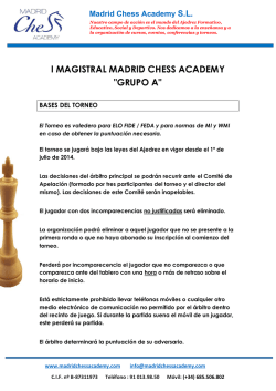 i magistral madrid chess academy