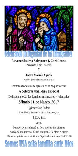 Sábado 11 de Marzo, 2017 - the Archdiocese of San Francisco