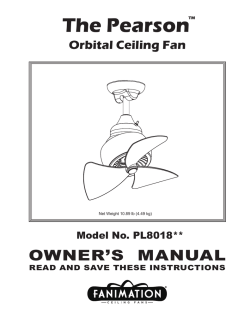 The Pearson™ Orbital Ceiling Fan