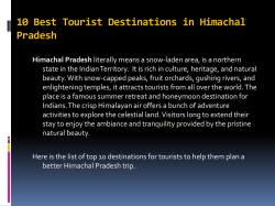 10 Best Tourist Destinations in Himachal Pradesh