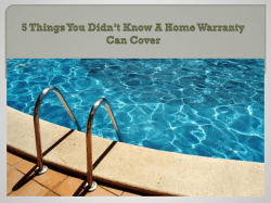 5 Things You Didn't Know A Home Warranty Can Cover