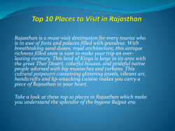 Top 10 Places to Visit in Rajasthan