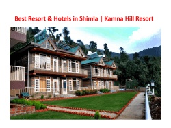 Best Resort and Hotels in Shimla - Kamna Hill Resort