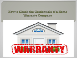 How to Check the Credentials of a Home Warranty Company
