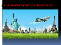 Five Reasons to Choose a Travel Agency