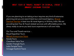 Best Tour and Travel Agency in Shimla, India - Bharat Darshan Tourism