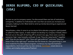Derek Bluford, Ceo of Quicklegal (USA)