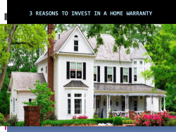 3 Reasons To Invest In A Home Warranty