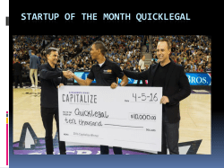 Startup of the Month Quicklegal