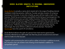 Derek Bluford donates to regional underserved institutions